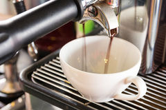 Doppelter Espresso stockbild