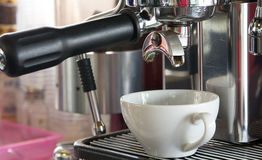 Doppelter Espresso bereit Lizenzfreies Stockfoto