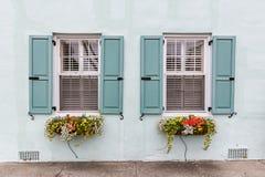 Doppelter Fenster-Pastell Stockbild