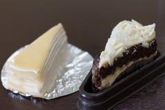 Doppelter geschmackvoller Kuchen Stockfoto