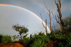 Doppelter Regenbogen Lizenzfreie Stockfotos