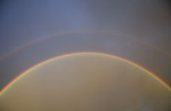 Doppelter Regenbogen Stockbilder