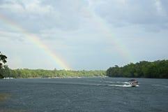 Doppelter Regenbogen Stockfotos