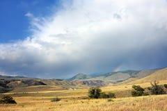 Doppelter Regenbogen in Yellowstone Stockfotografie