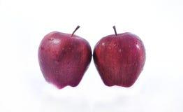 Doppelter roter Apfel Stockfotografie