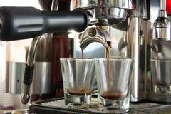 Doppelter Schuss des Espressos lizenzfreies stockbild