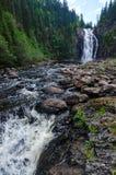 Doppelter Wasserfall in Trondheim Stockbild
