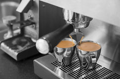 Doppeltes Espresso Lizenzfreie Stockfotos