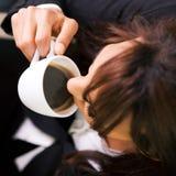Doppeltes Espresso Stockfoto