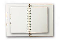 Doppeltes Notizbuch getrennt Lizenzfreie Stockfotografie