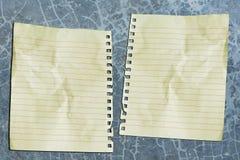 Doppeltes Papier lizenzfreie stockbilder
