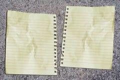 Doppeltes Papier lizenzfreies stockfoto