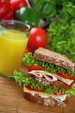 Doppeltes Sandwich Lizenzfreie Stockbilder