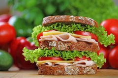 Doppeltes Sandwich Stockbilder
