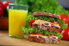 Doppeltes Sandwich Stockbild