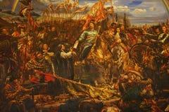 Doppeltes Schneckentreppenhaus Malerei von König Jan Sobieski in Wien während des Krieges mit Türken Malerei von Jan Matejko stockbild