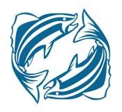 Doppi pesci Fotografia Stock Libera da Diritti