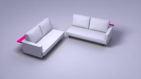 Doppi sofà fotografie stock libere da diritti