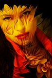 Doppia esposizione del giovane bello della donna ritratto di fantasia Fotografia Stock Libera da Diritti