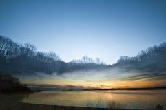 Doppia esposizione del paesaggio Fotografia Stock Libera da Diritti
