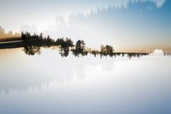 Doppia esposizione del paesaggio Immagini Stock