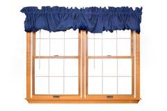 Doppia finestra isolata (percorso di residuo della potatura meccanica) Fotografie Stock