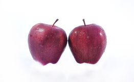 Doppia mela rossa Fotografia Stock