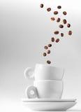 Doppia metafora del caffè espresso Fotografia Stock