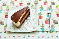 Doppia mousse di cioccolato Fotografia Stock