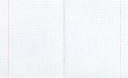 Doppia pagina quadrata spanta con margine rosso Fotografia Stock