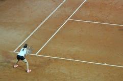 Doppia partita di tennis della donna Fotografie Stock