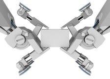 Doppia pinsa del robot Fotografia Stock Libera da Diritti