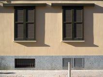 Doppie finestre di scivolamento Fotografia Stock