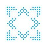Doppie frecce blu nelle direzioni differenti 8/eight illustrazione di stock