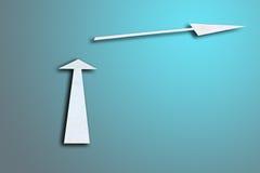 Doppie frecce sull'azzurro Fotografia Stock