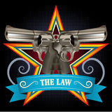 Doppie pistole Fotografia Stock Libera da Diritti