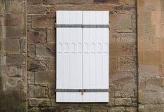 Doppie porte dipinte bianco Fotografia Stock
