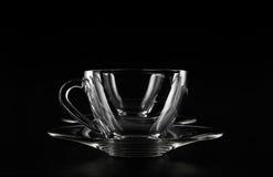 Doppie tazze di vetro vuote Fotografia Stock Libera da Diritti