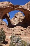 Doppio arco, Utah Fotografie Stock Libere da Diritti