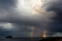 Doppio arcobaleno Fotografia Stock