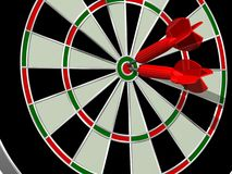 Doppio Bullseye Fotografia Stock Libera da Diritti