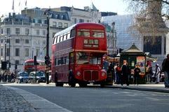 Doppio bus rosso Fotografie Stock