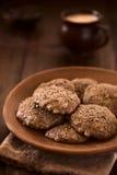 Doppio cioccolato casalingo Chip Cookies Immagini Stock Libere da Diritti