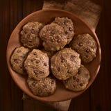 Doppio cioccolato casalingo Chip Cookies Fotografia Stock Libera da Diritti