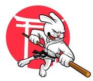Doppio coniglio del bastone royalty illustrazione gratis