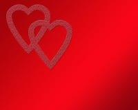 Doppio cuore del biglietto di S. Valentino immagini stock libere da diritti