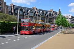 Doppio Decker Bus a Bruxelles, Belgio Immagine Stock