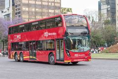 Doppio Decker Metrobus - Città del Messico Fotografia Stock Libera da Diritti