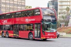 Doppio Decker Metrobus - Città del Messico Immagine Stock Libera da Diritti