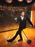 Doppio della cera di canto di Ricky Martin Fotografie Stock Libere da Diritti